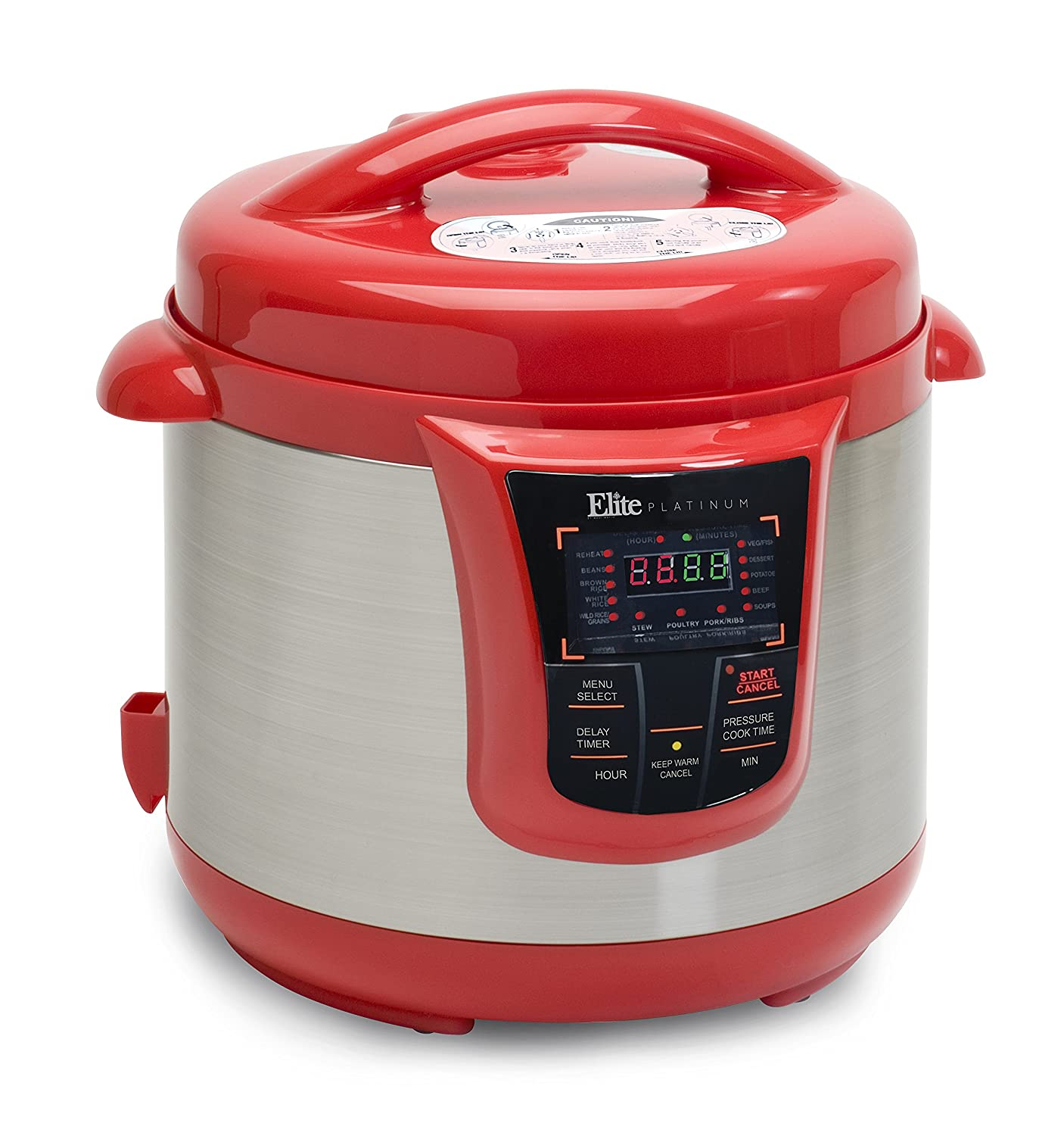 Amazon Elite Platinum 8 Quart 14 In 1 Multi Use Programmable Pressure Cooker Slow Rice Saut And Warmer