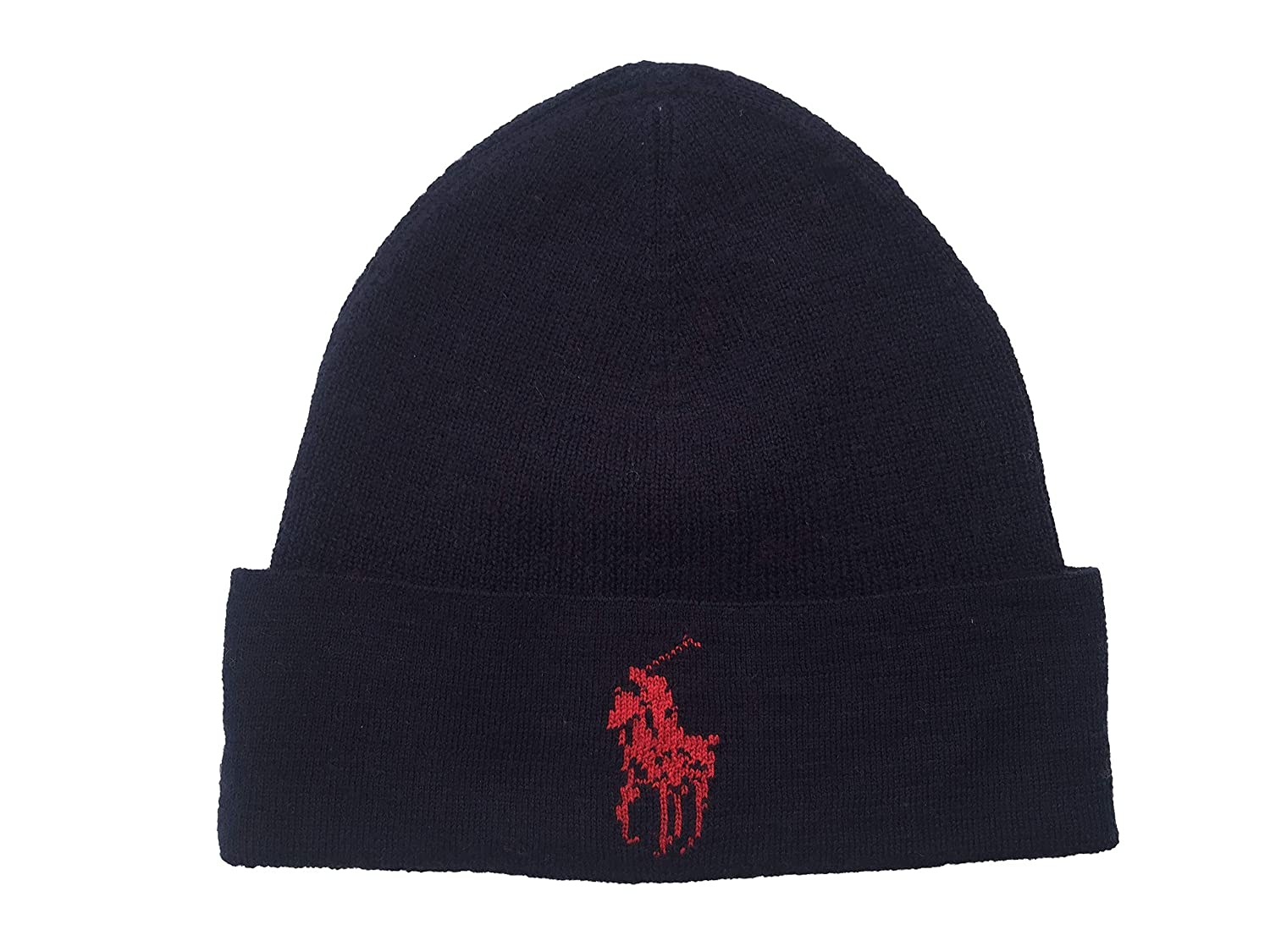 Polo Ralph Lauren Men`s Lightning Bolt Wool Hat (Black(PP0015-001) Blue ef48568203