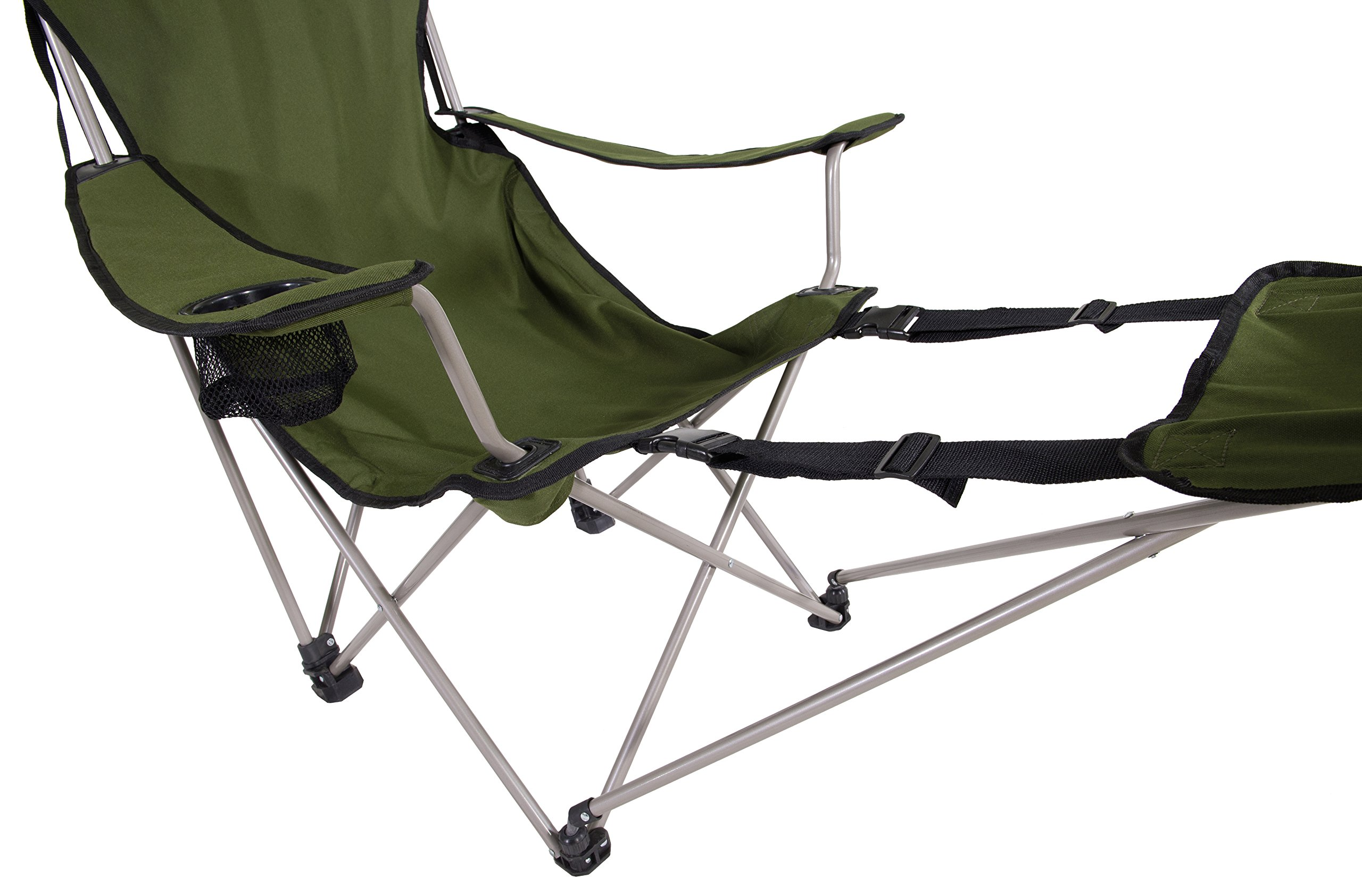 Folding Lounger Portable Camping Recliner Beach Chair W