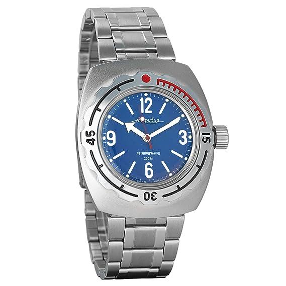 Vostok 2415 de anfibios 090659 Militar ruso reloj mecánico: Amazon.es: Relojes
