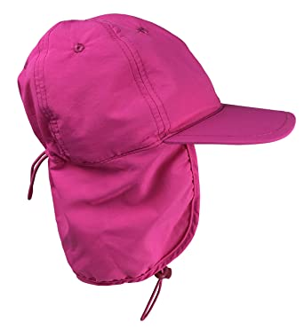 f148bea498977 Amazon.com  N Ice Caps Kids SPF 50+ UV Protection Long Neck Cover Adjustable  Sun Hat  Clothing