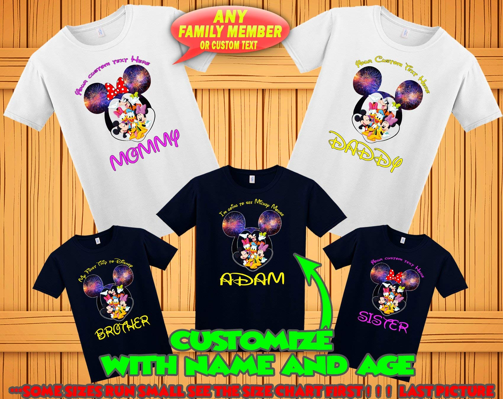Mickey Minnie Mouse family matching tshirts, Disney family matching custom t-shirts, Family vacation disney shirts, custom Personalized disney shirt, Personalized Disney Shirts for Family, by V-J