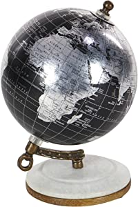 Deco 79 94470 Marble and Resin Decorative Globe, 7