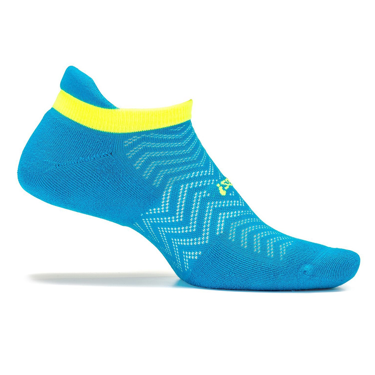 Feetures - High Performance Cushion - No Show Tab - Athletic Running Socks for Men and Women - Hawaiian Blue - Size Small