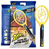 Zap-it! Mini Bug Zapper - Rechargeable Mosquito, Fly Killer and Bug Zapper Racket - 4,000 Volt - USB Charging, Super-Bright LED Light to Zap in the Dark