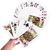 "Giant Jumbo Deck of Big Playing Cards Fun Full Poker Game Set - Measures 5"" x 7"""
