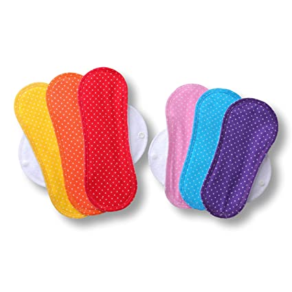 ... de algodón puro con alas (de tamaños S y M) HECHAS EN LA UE, para menstruación, incontinencia; compresas lavables organico para mujer: Amazon.es: ...