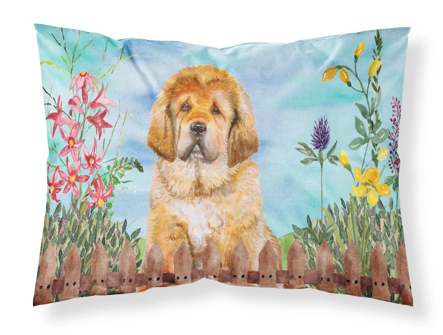 Carolines Treasures Tibetan Mastiff Spring Pillowcase Standard Multicolor