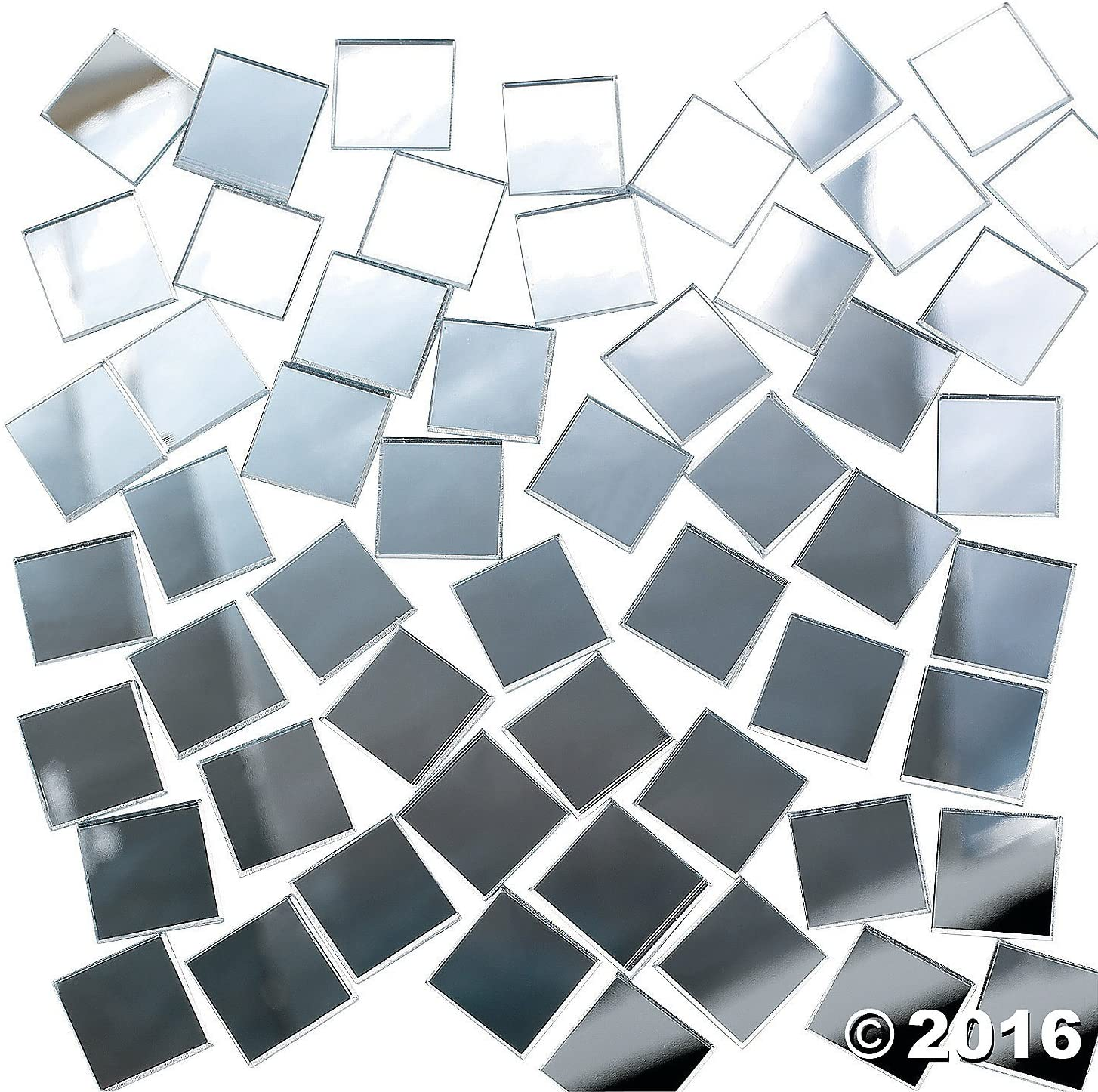 Blue Glass Mosaic Tiles 2.5cm Art Craft Supplies No. 7