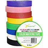 Yupplies Premium Colored Masking Tape Pack - Colored Tape For Arts & Crafts, Labeling or Coding - Art Supplies For Kids - 8 Different Color Rolls - Masking Tape 1 Inch x 54 Yards (2.54cm X 49.38m)