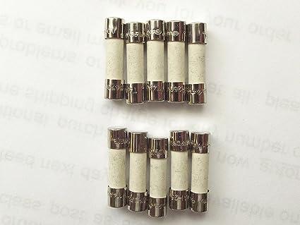 6,3 A 250 Volt  Sicherungen 10Stck 5 x 20mm träge