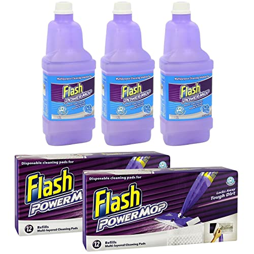 Flash Power Mop Disposable Cleaning Pads 12 Refills