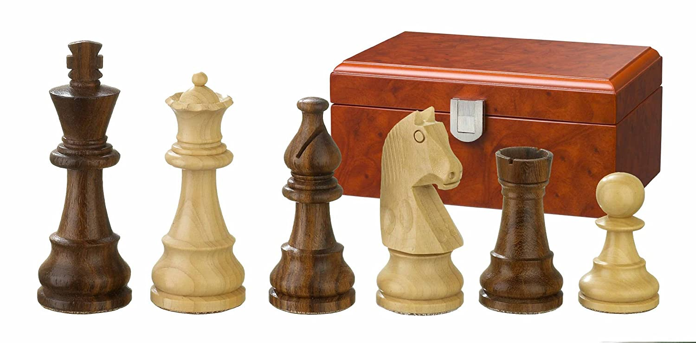 Königshöhe 76 mm Staunton Schachfiguren Holz Titus