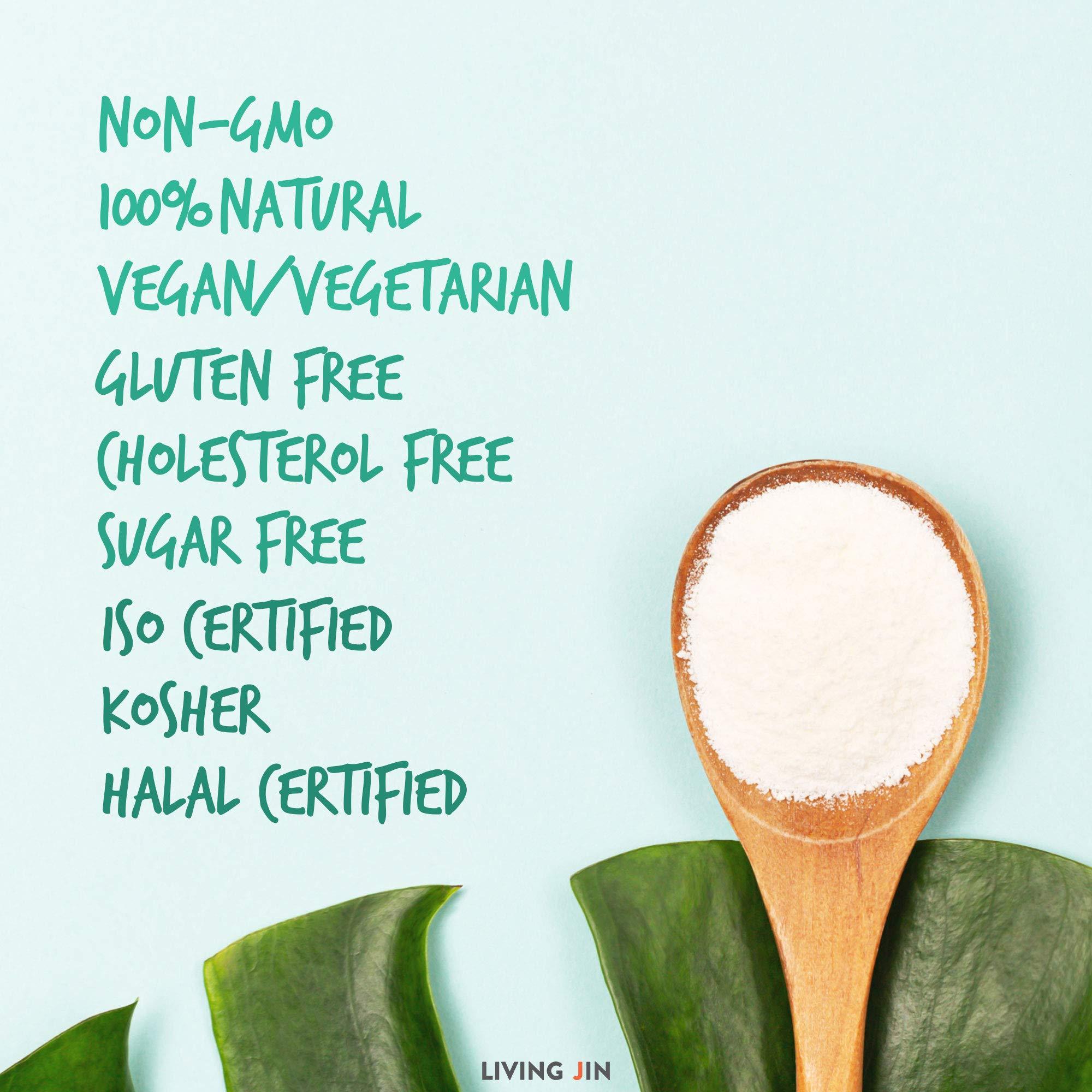 LIVING JIN Agar Agar Powder 28oz (or 4oz | 12oz) : Vegetable Gelatin Powder Dietary Fiber [100% Natural Seaweed + Non GMO + VEGAN + VEGETARIAN + KOSHER + HALAL] by LIVING JIN (Image #4)