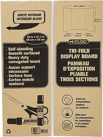 2 Pack Tri-Fold Display Board Cardboard 39 x 27.3