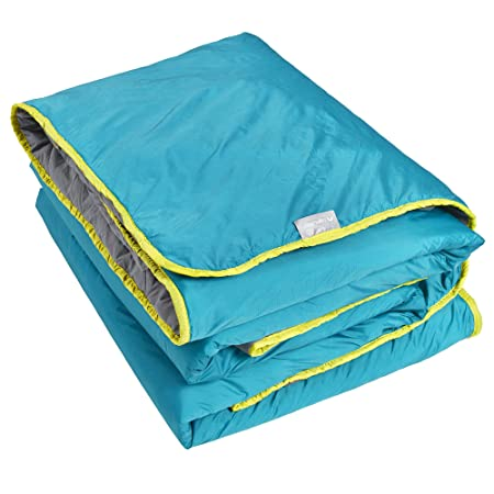 Lightspeed Outdoors Sundown Camp Blanket, Nylon Ripstop, Fluffy Down Alternative, Packable, 77 x 55