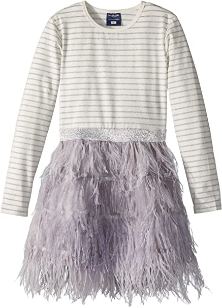 a609fc8d1e10 Toobydoo Baby Girl's Feather Skirt Party Dress (Toddler/Little Kids/Big Kids )