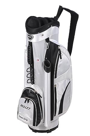 Bullet B14D - Bolsa de carro para palos de golf (10 compartimentos), color blanco/negro, talla UK: NA: Amazon.es: Deportes y aire libre