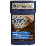Tom's of Maine Natural Long Lasting Deodorant Stick, Mountain Spring, 2.25 Ounce
