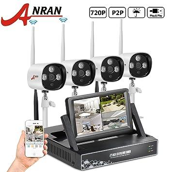 'ANRAN Vigilancia CCTV Video Vigilancia 4 CH 720P Monitor de 7 NVR Grabador con