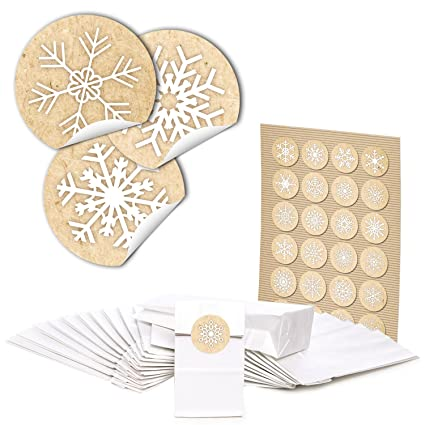 48 bolsas de papel blancas con pergamino Einlage (7 x 4 x 20 ...