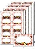 80 Etiketten 'Bunte Früchte' zum Bedrucken, Beschriften, DIN A5, selbstklebend, leicht ablösbar, für Marmeladen, Einmachgläser, Gebäcktüten