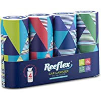 Reeflex, 4 Canisters Disposable 2 Ply Designed Perfect Cup Holder Fit Travel Car Canister Facial White Tissues, Soft…