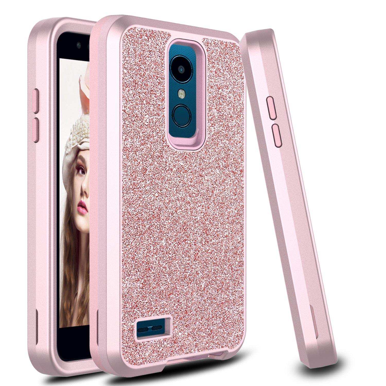 LG Xpression Plus Case, LG K10 2018 Case, LG K30 Case, LG Premier Pro LTE  Case, Zenic 3 in 1 Flower Pattern Shockproof Hybrid Hard Protective Case  for