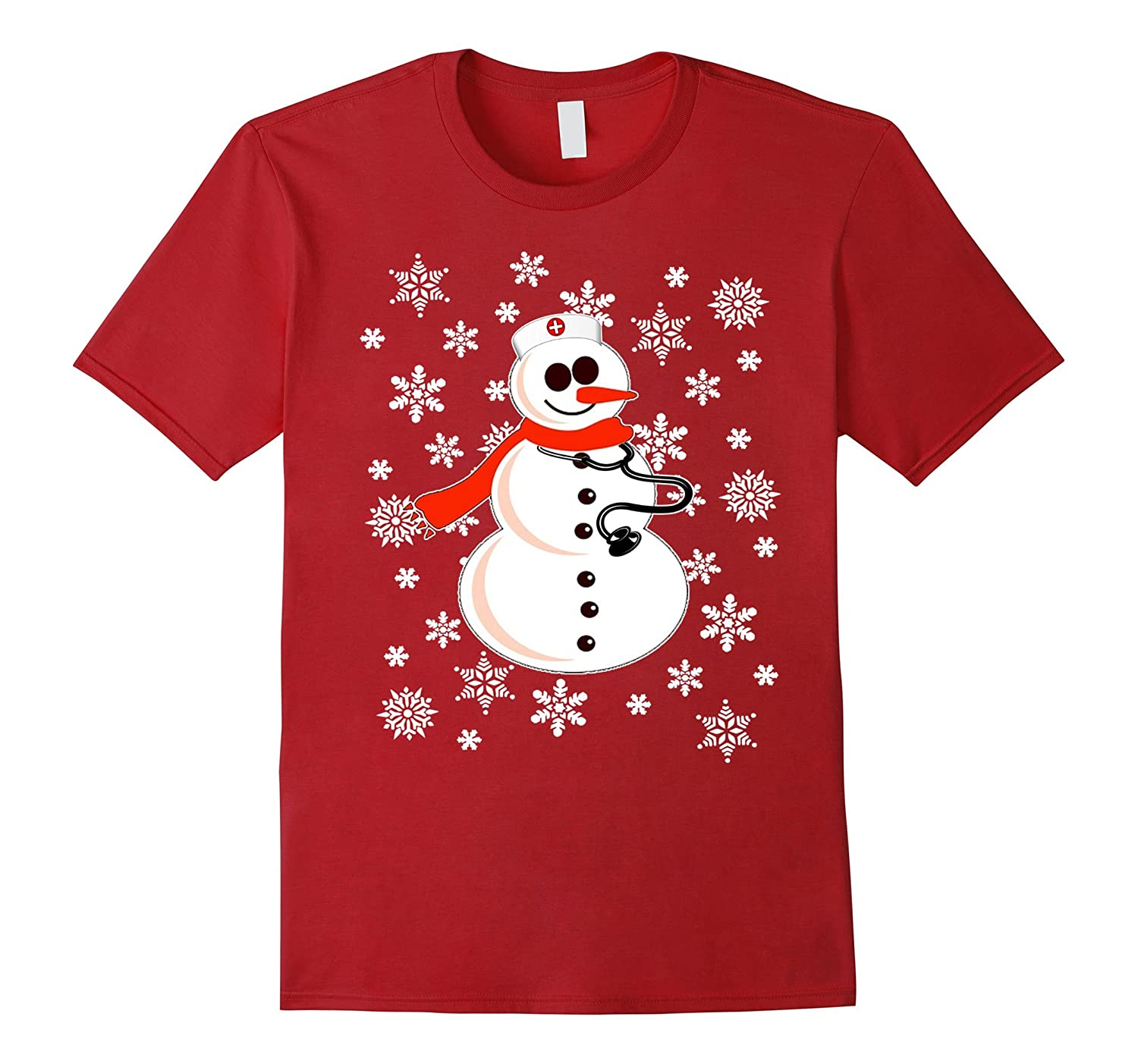 Christmas Shirt for Nurses and Doctors - Snowman-ANZ