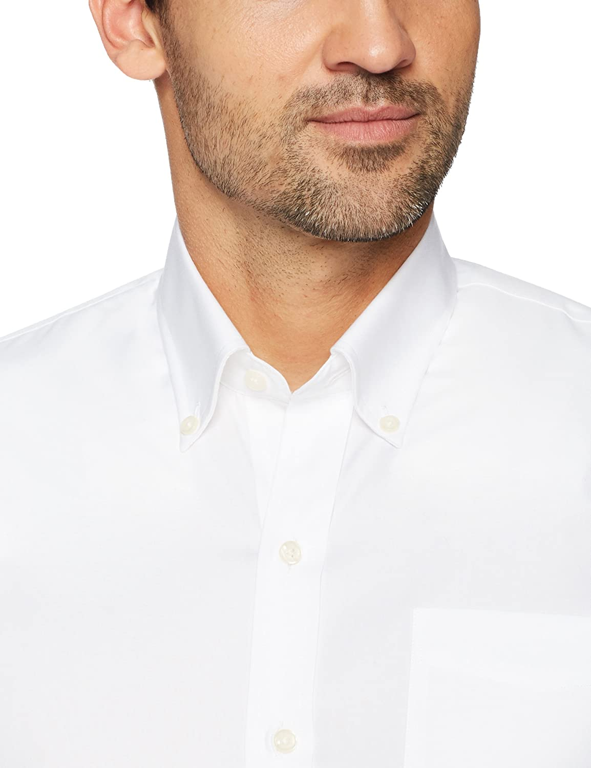BUTTONED DOWN Mens Slim Fit Button-Collar Solid Pinpoint Dress Shirt Brand Supima Cotton Non-Iron