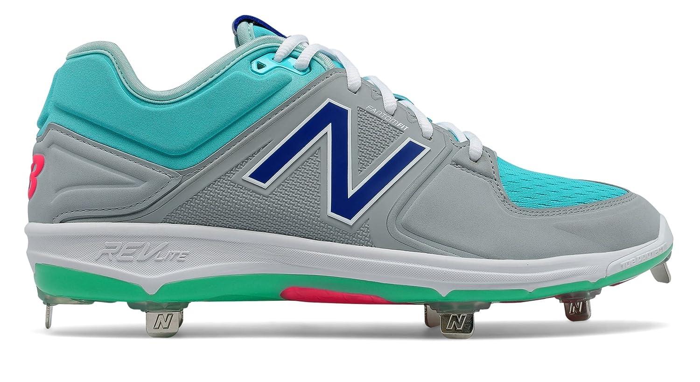 (ニューバランス) New Balance 靴シューズ メンズ野球 Low-Cut 3000v3 Coumarin Pack Grey with Aquamarine and Vivid Blue グレー アクアマリン ヴィヴィッド ブルー US 7 (25cm) B06XXWVDC2
