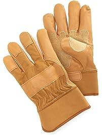 Carhartt Mens Grain Leather Work Glove with Safety Cuff