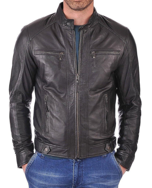 Laverapelle Men's Lamb skin Real Leather Jacket Black - 1510058