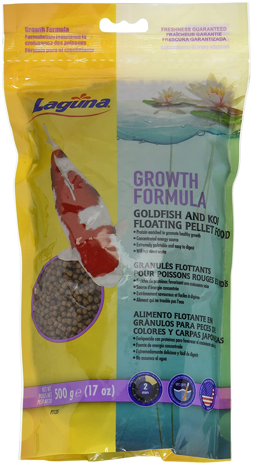 Amazon.com : Laguna Growth Enhancing Goldfish & Koi Floating Food, 17 oz : Pet Supplies
