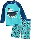 VAENAIT BABY Toddler Kids Boys UPF 50+ UV Protection Quick Dry Rashguard Swimsuit Bathing Suit 2-7T Sets