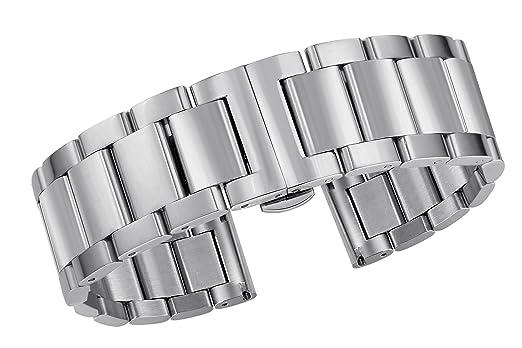 22mm Autulet Edelstahl Uhrenarmband Männer Silber Tc35lKJuF1