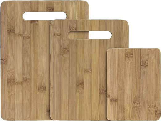 Totally Bamboo 3-Piece Bamboo Serving and Cutting Board Set - Quality Bamboo Chopping Board
