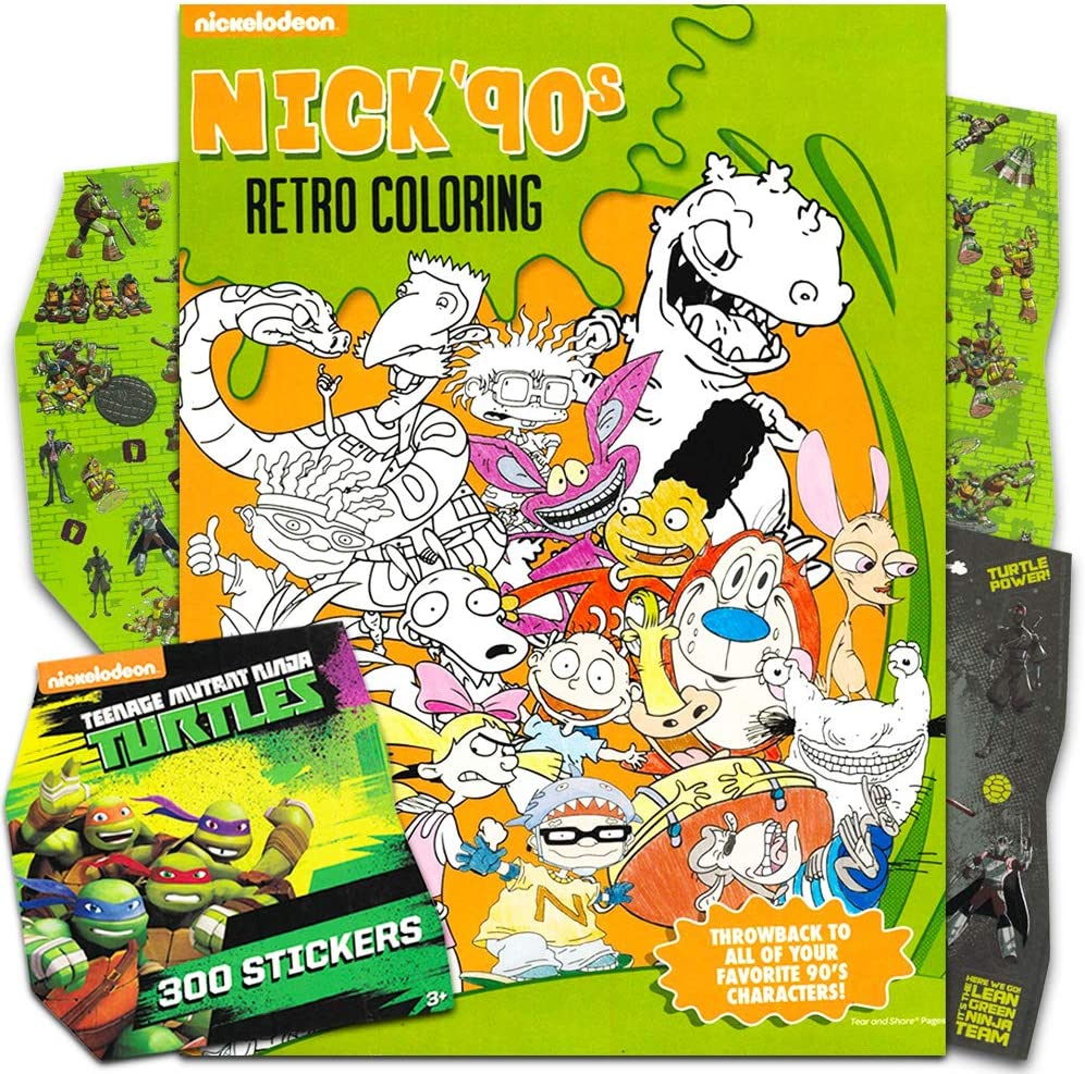 Hey Arnold Nickelodeon Coloring Books for Adults and More with Stickers Ren and Stimpy 90s Nickelodeon Coloring Book for Adults Relaxation Set ~ Advanced Nick Coloring Book Featuring Rugrats