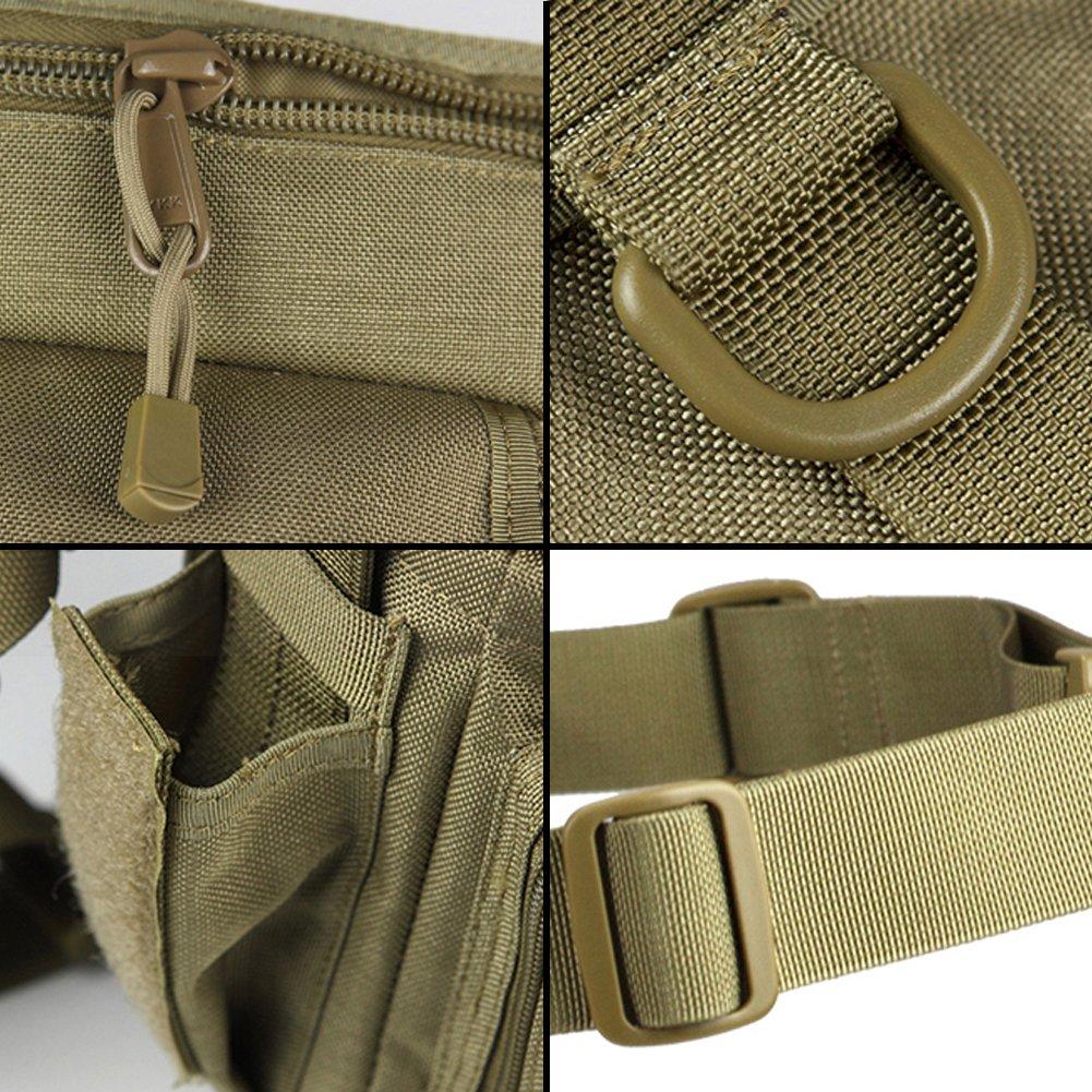 Brown Color FREE SOLDIER Libre Soldado Nailon Resistente al Agua Revestimiento Interior multifunci/ón t/áctica de Alta Capacidad Bolsa de Pierna y Cintura Pack