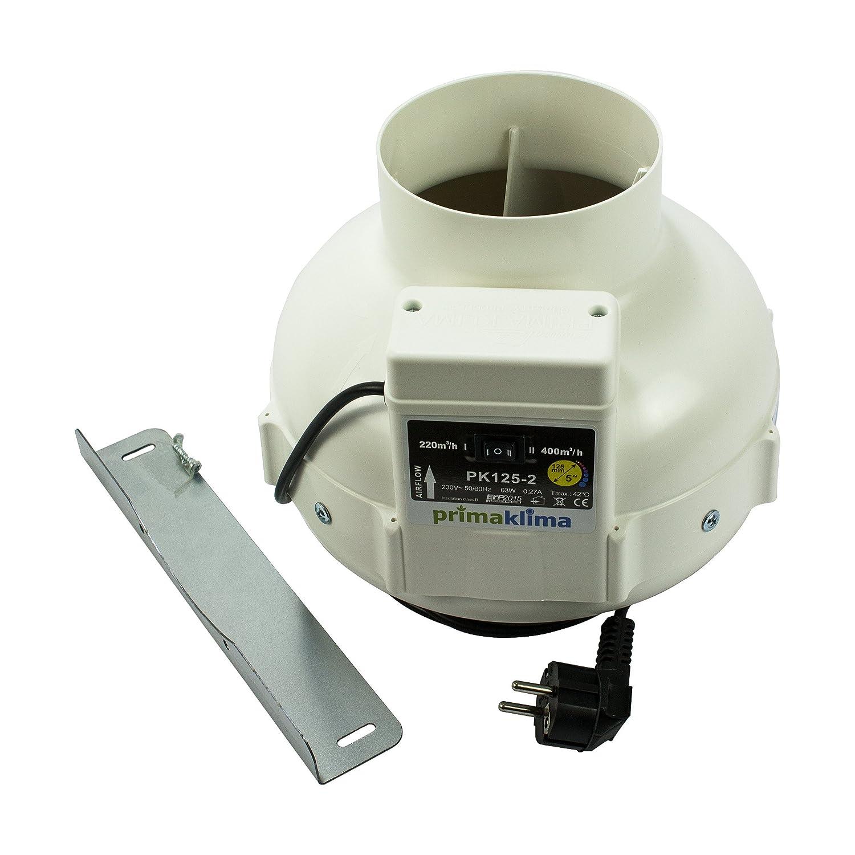 aireador GBK conexi/ón de 125/mm//Brida abl/üfter Prima Klima Tubo de 2/etapas Ventilador 220/ ba/ño Ventilador /360/m/³//h