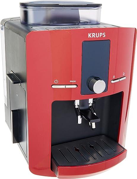 Cafetera Espresso Krups EA825511 Automática Premium Roja, Programable con sistema de auto…