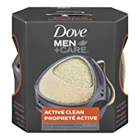 Dove Men+Care Active Clean Dual Sided Shower Tool, 1 Count