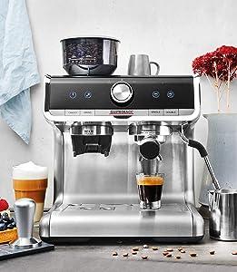 Siebträgermaschine mit integriertem Mahlwerk Gastroback Design Espresso Barista Pro 42616