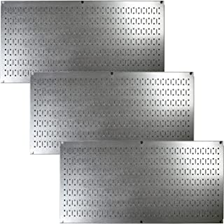 product image for Wall Control Pegboard Value Pack - (3) Pack of Wall Control 16-Inch Tall x 32-Inch Wide Horizontal Steel Pegboards for Wall Home & Garage Tool Storage Organization (Metallic Galvanized Pegboard)