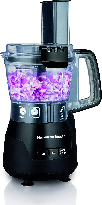 Hamilton Beach (70510) Food Processor & Mini Chopper, 4 Cup, Electric, Black (Renewed)
