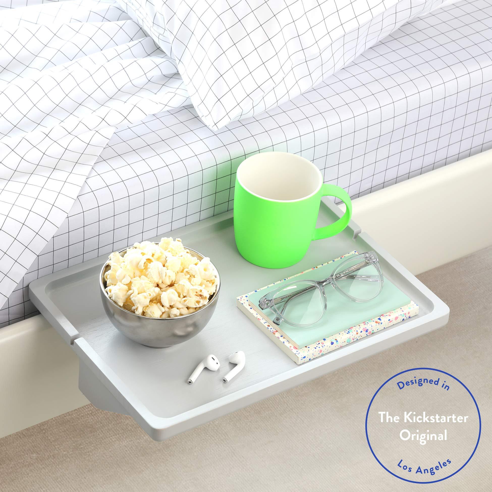 BedShelfie The Original Bedside Shelf - 9 Colors / 3 Sizes - AS SEEN ON Business Insider (Minimalist Style, Light Grey) by BedShelfie