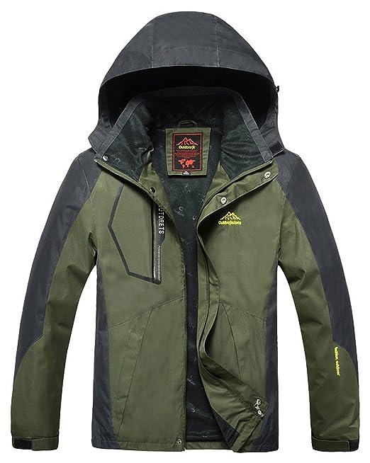 Nublado Hombre Ropa con capucha softshell exterior impermeable chaqueta impermeable para mujer: Amazon.es: Ropa y accesorios