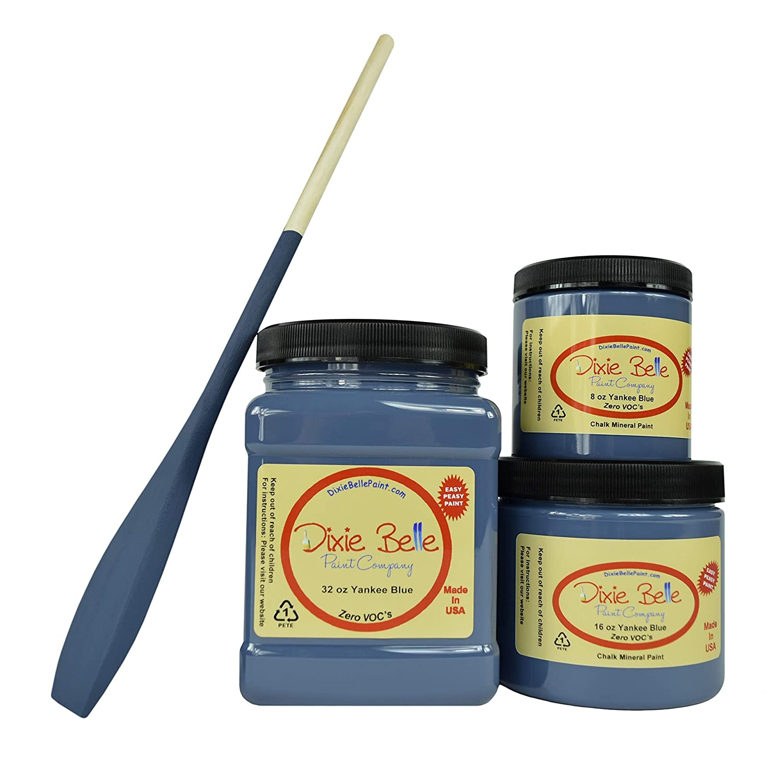 Dixie Belle Paint Company Chalk Finish Furniture Paint (Yankee Blue) (32oz)
