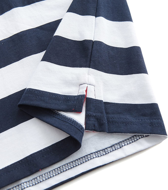 HowJoJo Boys Cotton Long Sleeve T-Shirts Striped Polo Shirts
