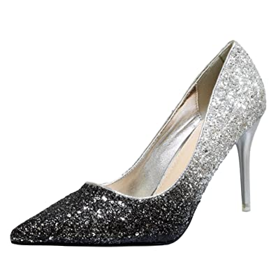 04283cd7522a Rock on Styles New Ladies Gold Silver Party Prom Bridal Sparkly Diamante  Ankle Straps Low Mid Kitten Heel Shoes Sandals A112 (UK 3   EU 36